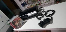 PlayStation 3 fat 80GB travado funciona perfeito entrega gratuita parcela até 12x