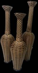 Trio de vasos para decoração