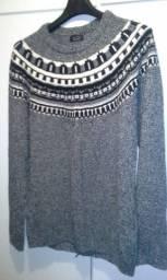 Suéter lã estilo andino zara