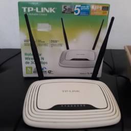 Vendo Roteador Wireless Tp-Link TL-WR841N 300Mbps 2.4Ghz Duas Antenas