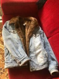 Jaqueta de pelego por dentro