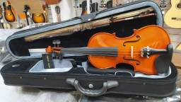 Violino 4/4 Tampo Maciço Lateral e Fundo Maciço Maple