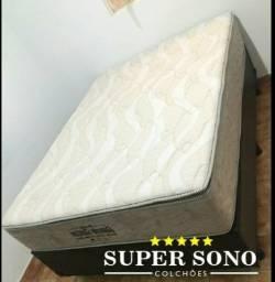Conjunto Cama Box Extra Firme Casal 138x188 Semi Ortopedico