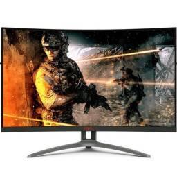 """Monitor Gamer 31,5"""" AOC Curvo 165Hz NOVO<br>na caixa com NF"""