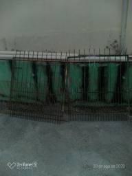 Portão de ferro para garagem com 2  folhas totalizando 2.50 de largura x 1.50 altura