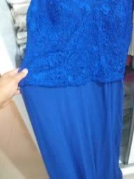 Vestido para festa Pluz size N 56 azul