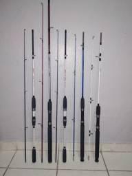 Varas de Pesca de 1.80mt e 2.10mt (Novas)