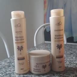 Kit verniz perfeito ,shampoo condicionador e máscara