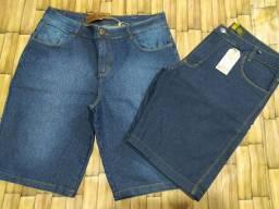 Bermuda jeans roupa masculina