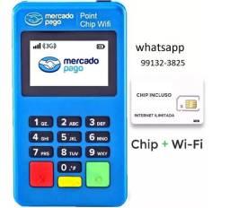 Maquininha de cartão Mini Chip Lacrada Com Wi-Fi