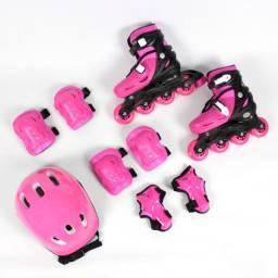 Kit Roller Radical rosa Completo infantil