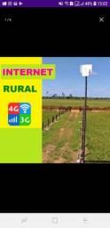 Internet rural 4G com ou sem modem  e energia solar