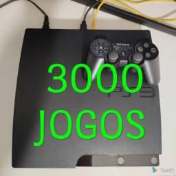 Playstation 3 com + de 1.000 jogos