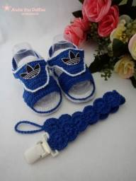 Sandália Adidas de Crochê