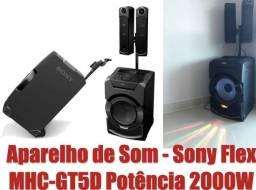 Aparelho de Som - Sony Flex MHC-GT5D Potência 2000W, NFC e Bluetooth