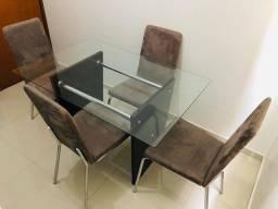Mesa de vidro 1.20 X 80