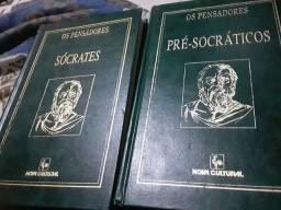 2 livros Os pensadores 1996. 50reais