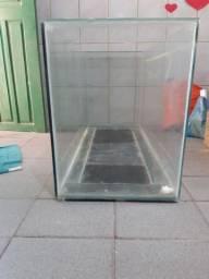 Aquário somente a caixa de vidro