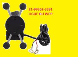 Suporte De Celular Com Carregador Universal Para Moto + Brinde