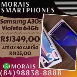 Smartphone Samsung Galaxy A30s Violeta 64Gb (NOTA FISCAL E GARANTIA 12 MESES)