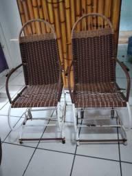 Cadeiras de balanço com molas