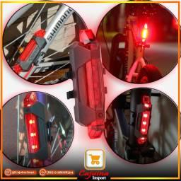 Farol Traseiro para Bicicleta Luz de Led USB Recarregável m24sd10sd20