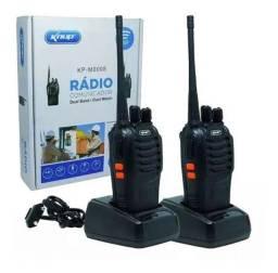 RADIO COMUNICADOR WALK TALK 16 CANAIS KNUP RECARREGÁVEL