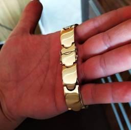 Bracelete em moeda antiga 10m e 15 mm