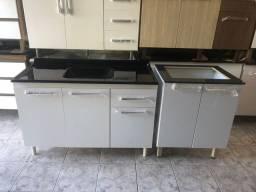 Pia de cozinha e balcão de cooktop