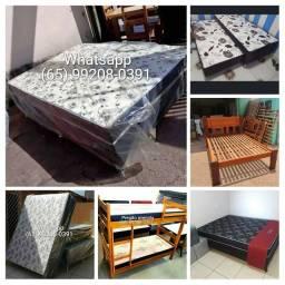 Temos cama Box casal/Box solteiro/bicama/cama de madeira/beliche/colchão
