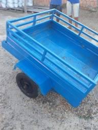 Carroça Para Moto de ferro Semi nova