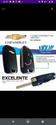 Chave canivete Chevrolet modelo moderno com a lâmina virgem