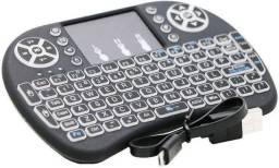 Mini Teclado Wireless com iluminação Led Rgb TV - BOX Função Mouse