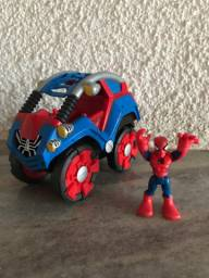 Carro cambalhota homem aranha Marvel spiderman