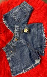 Shorts cintura alta destroyed