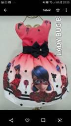 Vestido de festa luxo da ladybug Tam 01 ao 12
