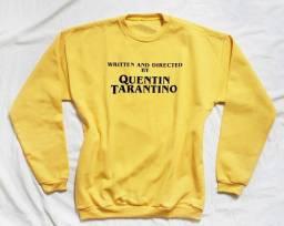 Moletom Quentin Tarantino Algodão Amarelo