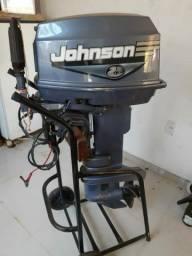 Motor Johnson 25 hp ,partida elétrica e manual ,revisado