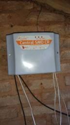 Central para cerca elétrica e alarme