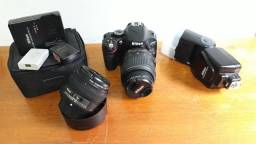 Kit Nikon, Câmera D5100, Lente 18-55mm, Lente 50mm, Flash SB-700, Baterias