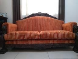 Jogo de sofá vintage pata de leão