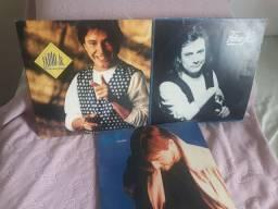 Lote com 3 discos de vinil do Fábio JR. Antigos
