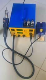 Estação de ar quente e solda  yaxun 702 e multimetro capacimetro yaxun