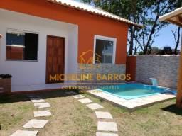 FC/ Excelente casa com 2 quartos, área gourmet e piscina à venda em Unamar - Cabo Frio