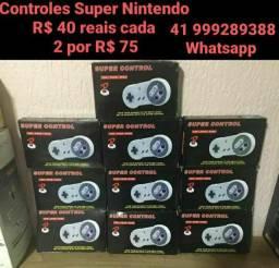 Controles Super Nintendo normal e usb ps1 ps2 nintendinho