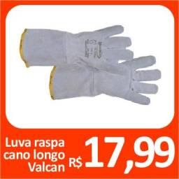 Luva raspa manga longa Valcan - Promoção= R$ 17,99