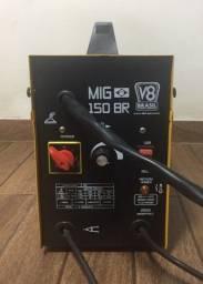 Máquina de solda MIG 150BR 130A 220V V8 Brasil