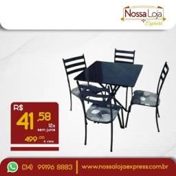 Título do anúncio: Mesa 4 cadeiras - Tupaciguara - últimas unidades