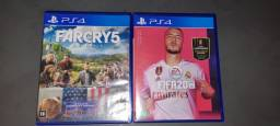 P/PS4 FARCRY5 E FIFA20 R$150,00