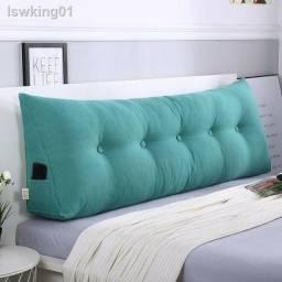 almofada p ara cabeceira de cama em tecido suede aveludado